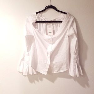 Free People white off shoulder top size m